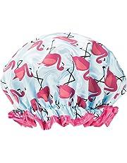 Upper Canada Soap Studio Dry Shower Cap, Flamingos
