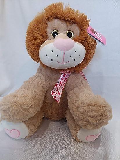 Blue Big Teddy Bear, Amazon Com Hugfun Fluffy Lion Stuffed Animal Plush Doll Large 14 5 In Jungle Safari Valentine S Day Birthday Christmas Just Because Toys Games