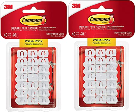 Amazon.com: 3M Command Decorating Clips, White, 40 Clips ...
