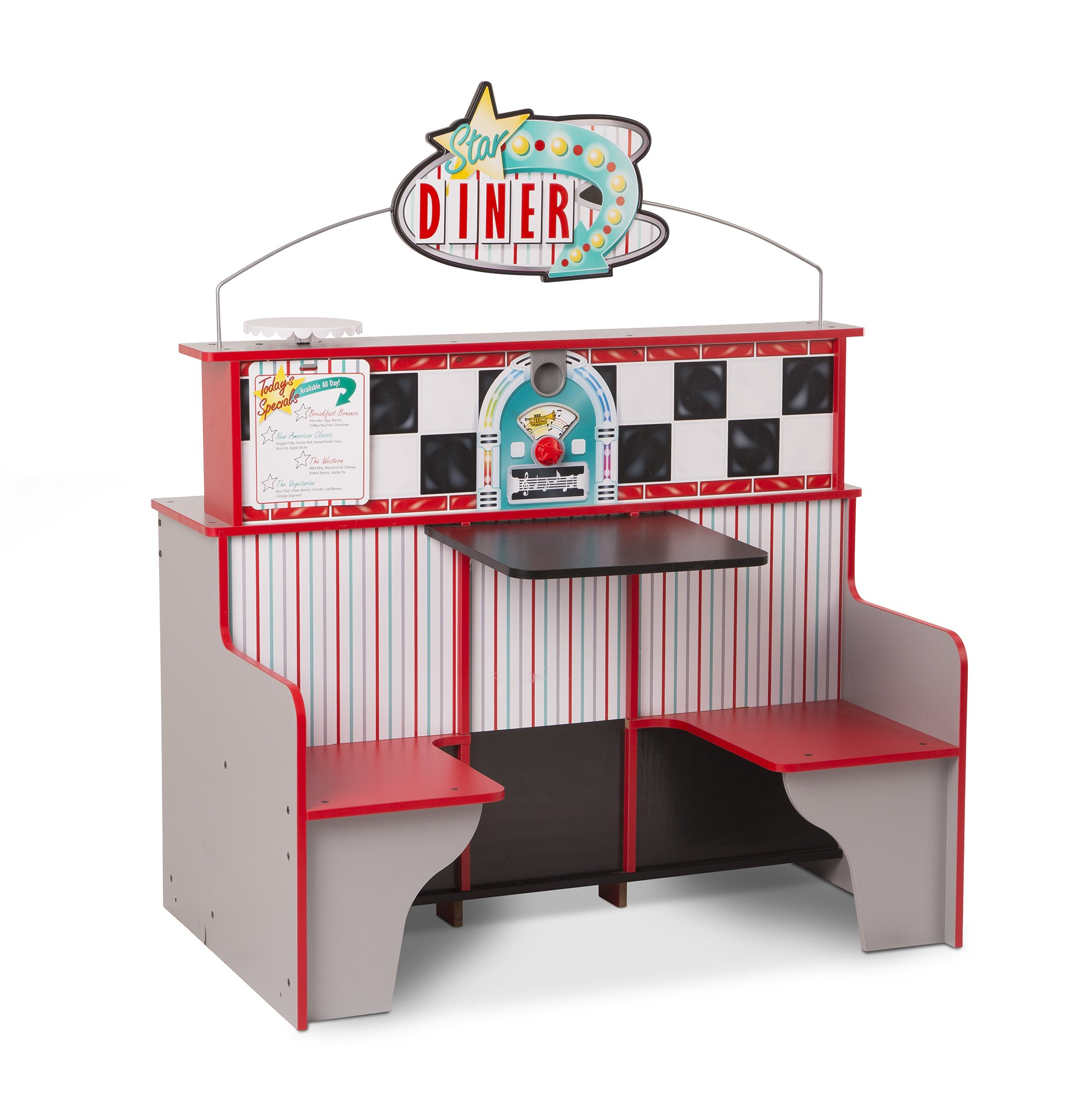 Details about Melissa Doug Kitchen Toy Set Pretend Play Kids Star Diner  Restaurant Wooden