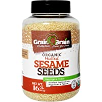 Grain Brain Organic Sesame Seeds (white, Hulled, 16 oz)