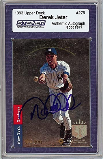 1993 Sp Derek Jeter Signed Rookie Baseball Card Rc Steiner