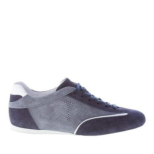 Hogan Olympia Uomo Sneaker in camoscio Blu più Celeste  Amazon.it  Scarpe e  borse 96f5272294a