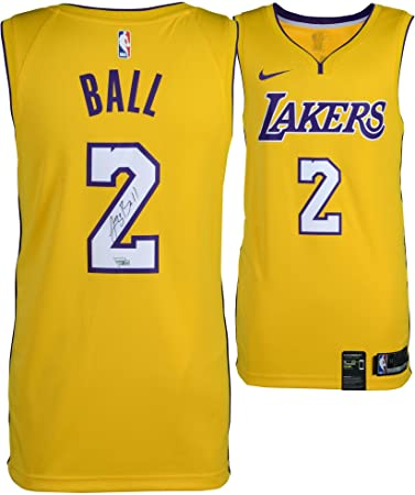 e2f3b85e446 ... czech lonzo ball los angeles lakers autographed nike gold swingman  jersey fanatics authentic certified autographed 8a4a8