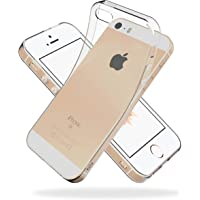 Youriad iPhone SE / 5S / 5 ケース カバー | 透明 クリア ソフト カバー| 特徴 軽量 インチ 薄型 ストラップ 滑り止め 落下防止 TPU(iPhoneSE / iPhone5S / iPhone5 専用)