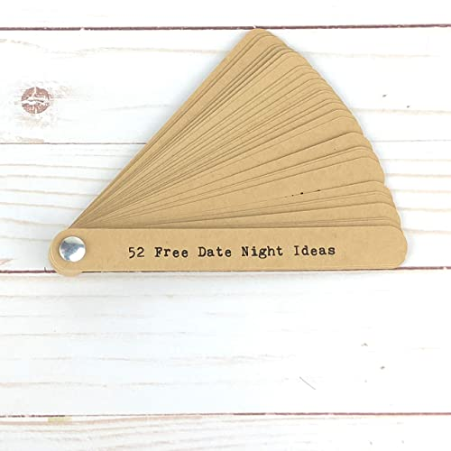 Amazon Com 52 Free Date Night Ideas Handmade Swatch Valentine S Day Gifts For Him Husband Romantic Gifts For Him Boyfriend Valentines Handmade