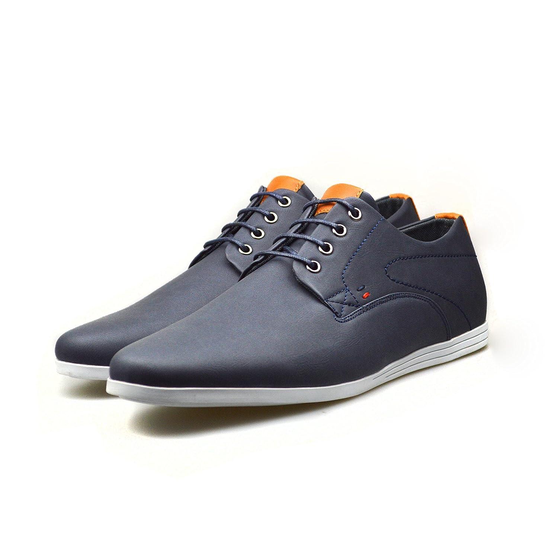 Tribangke Zapatos Planos con Cordones para hombre, Negro, EU 42