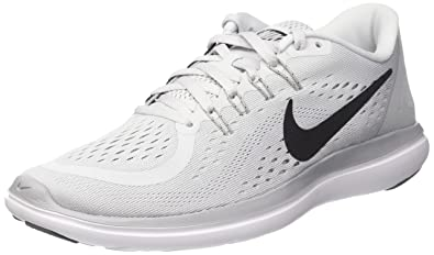 huge selection of bc41c 061a9 Nike Men s Flex 2017 Rn Pure Platinum Black-Wolf Grey Ankle-High Running