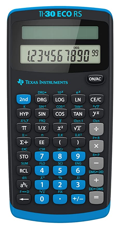 Texas Instruments Ti 30 Eco Rs Taschenrechner Unbekannt Amazonde