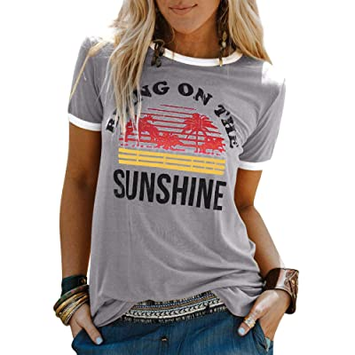Nlife Bring On The Sunshine Graphic Long Sleeves Tees Blouses for Women Tops Sweaters for Women: Clothing
