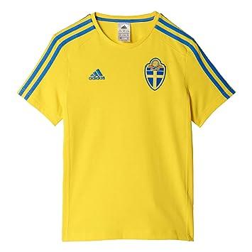 Adidas Svff 3S tee Y Camiseta Asociación Sueca de Fútbol, Niños, Amarillo (Amaril