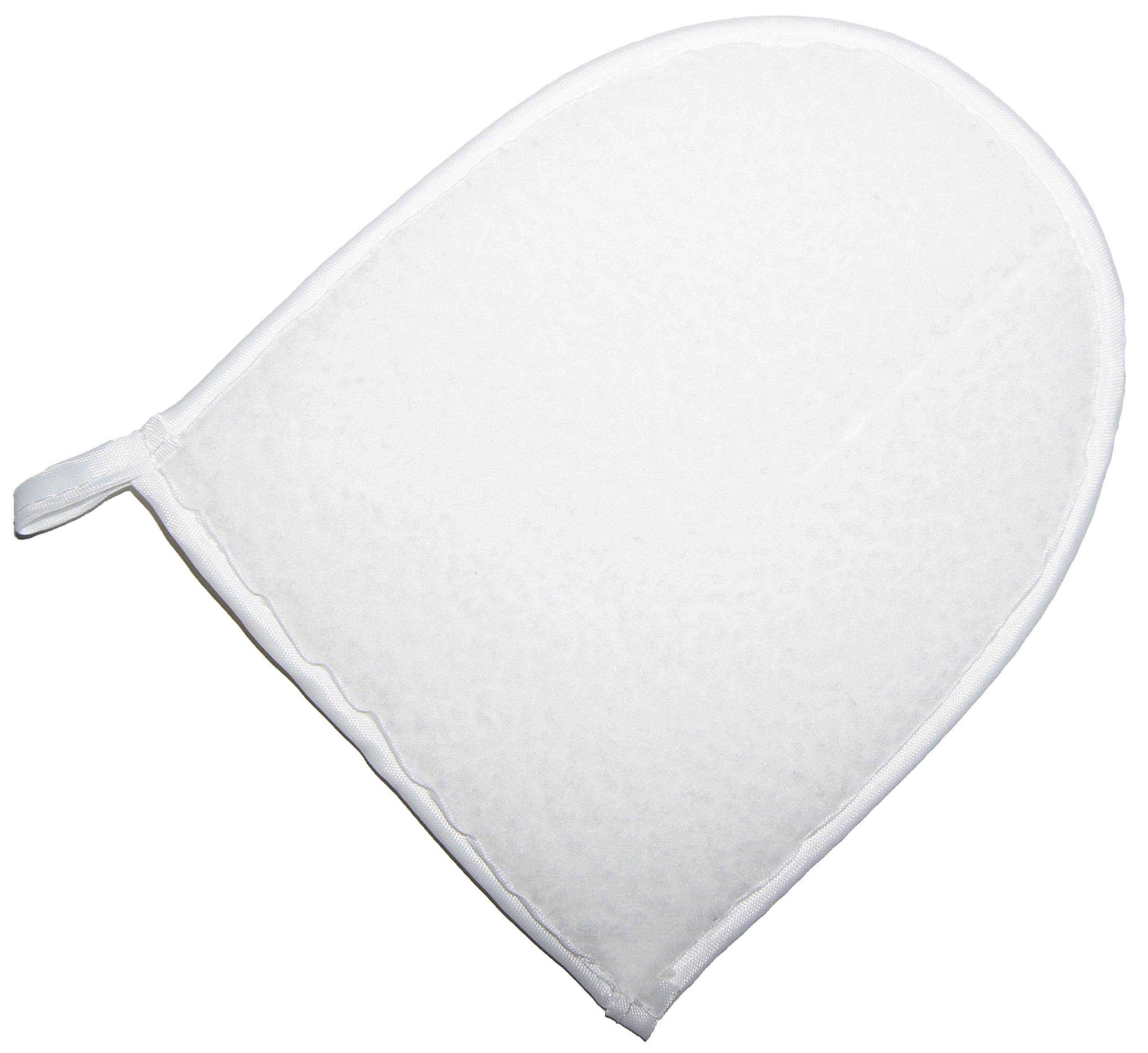 Shoeslulu Premium Shoe Shine Cloth with Breathable Mesh Glove Handle (3 Per Pack, Cream White)