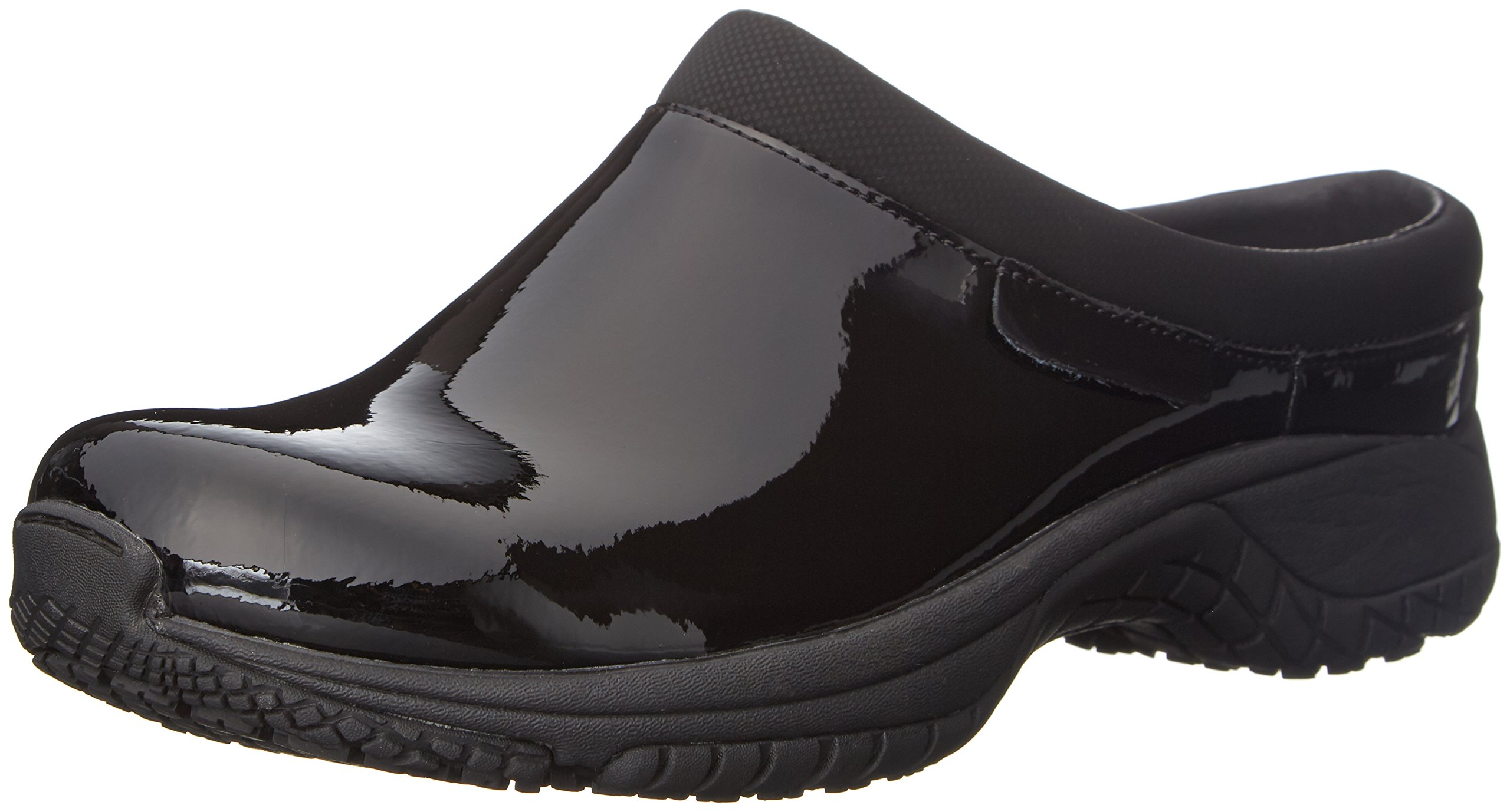 Merrell Women's Encore Slide Pro Shine Slip-Resistant Work Shoe, Black Shine Patent, 8.5 M US