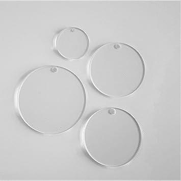 amazon com acrylic circle keychain blanks 1 8 thick select size