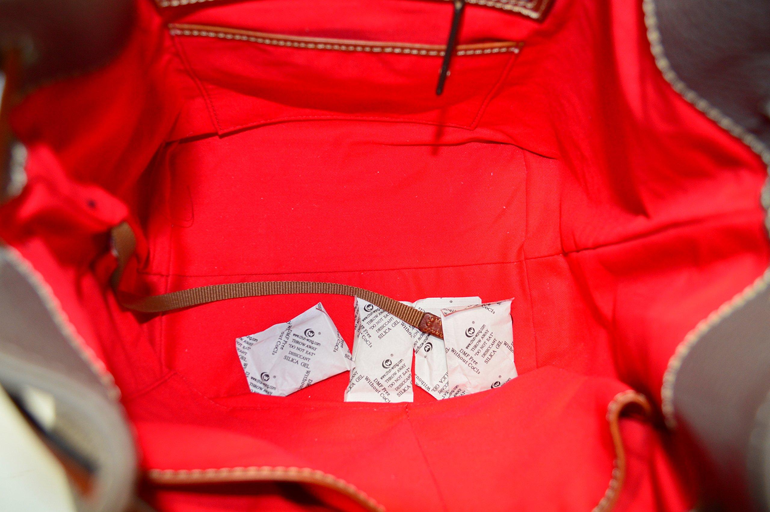 Dooney & Bourke Cordova Leather Drawstring Bag BCALD9038 Taupe by Dooney & Bourke (Image #5)