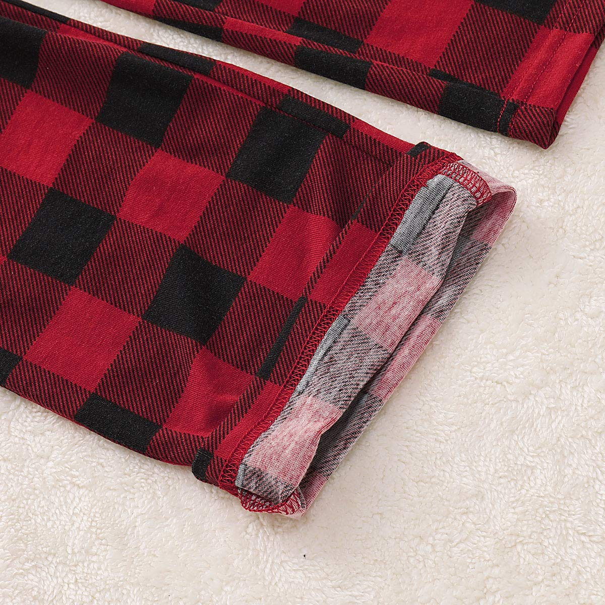 ZOEREA Christmas Pajama Family Matching Deer Cotton Sleepwear Homewear for Unisex Kids Newborn Toddler