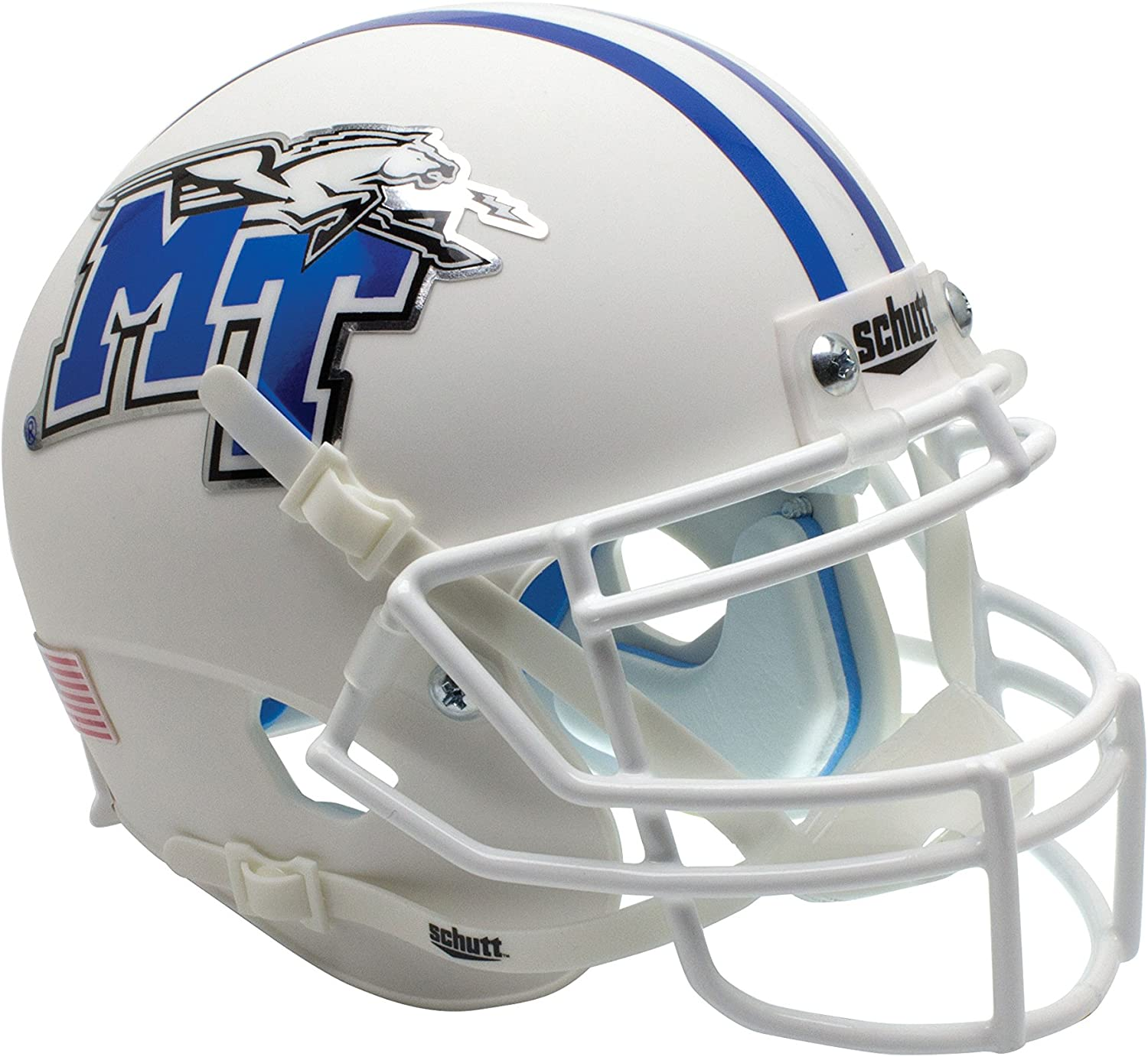Schutt NCAA Middle Tennessee State Blue Raiders Authentic XP Football Helmet