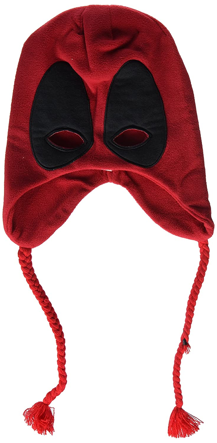 Rubie's Costume Co. Men's Deadpool Fleece Hat Costume Accessory Red One Size Rubies Costumes - Apparel 32913