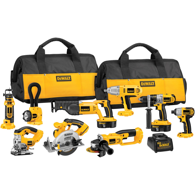 dewalt power tool set. dewalt dck955x 18-volt xrp cordless 9-tool combo kit - power tool packs amazon.com dewalt set t