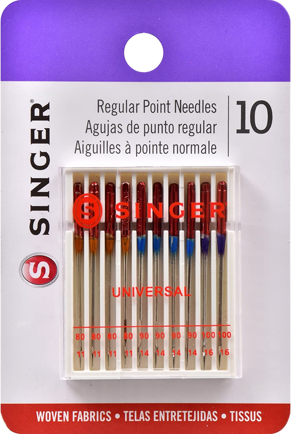 10-Count Singer 07360 Self-Threading Needles with Storage Magnet Assorted Sizes