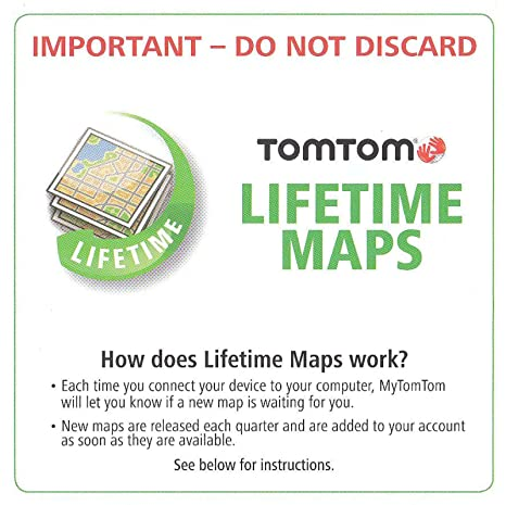 TomTom USA Canada Mexico Lifetime MAP Update Card Code VIA PRO GO (See  Compatibility List)