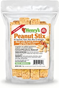 Henry's Peanut Stix - The Only Hamster and Squirrel Treat Baked Fresh to Order