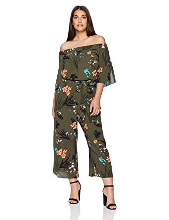0d8ee9580bfac Amazon.com  City Chic Women s Apparel Women s Plus Size Jumpsuit Jungle Fl   Clothing