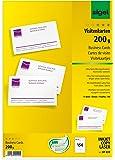 Sigel DP839 - Tarjetas de visita, MP, 200 g, 150 unidades en 15 hojas, 85 x 55 mm (A4)