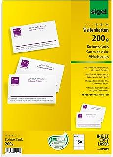 Herlitz 5020417 Visitenkarte Unbedruckt 85 X 55 Mm 200 G