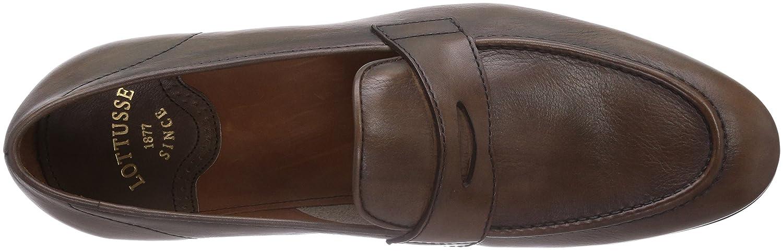Lottusse L6539 - Zapatillas de casa de piel hombre, color marrón, talla 43: Amazon.es: Zapatos y complementos