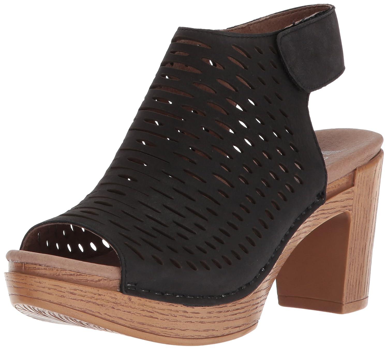 Black milled nappa Dansko Womens Danae Heeled Sandal
