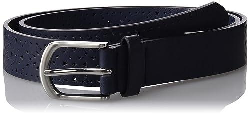 Springfield 4.T+.Pu Perforado Navy 2.8Cm, Cinturón para Mujer, Azul (Blue), 95 (Tamaño del fabricant...