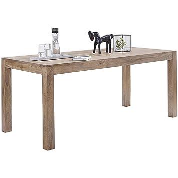 WOHNLING Esstisch Massivholz Akazie 120 X 60 X 76 Cm Esszimmer Tisch Design  Küchentisch Modern