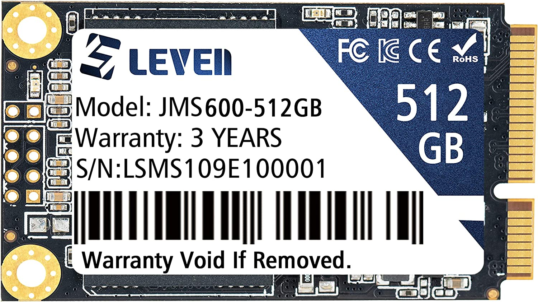 LEVEN mSATA SSD 512GB 3D NAND TLC SATA III 6 Gb/s, mSATA (30x50.9mm) Internal Solid State Drive - Compatible with Desktop PC Laptop - (JMS600-512GB)