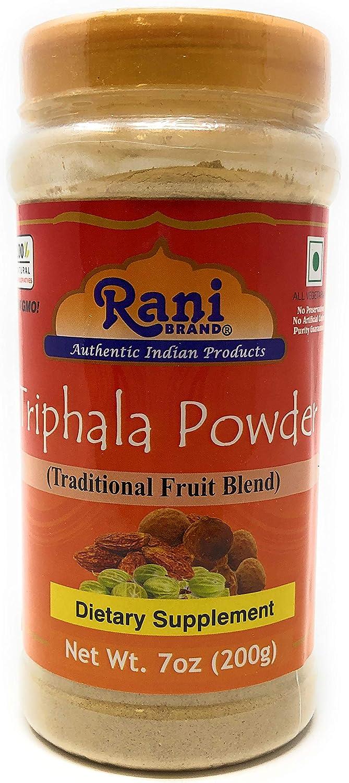 Rani Triphla Powder (Chebulic Myrobalan, Gooseberry, Terminalia Bellirica) 7oz (200g) ~ All Natural | Vegan | Non-GMO | Indian Origin | Dietary Supplement