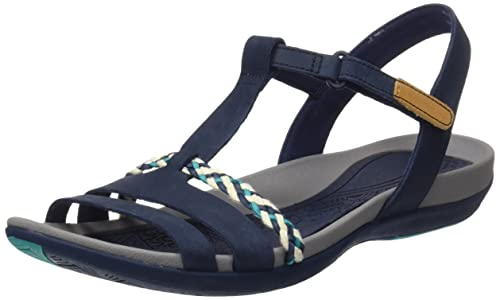Clarks Tealite Grace, Women's Open Toe Sandals, Blue (Navy), 3 UK