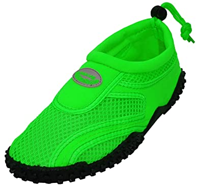 Womens Aqua Wave Water Shoes (5 Black/Neon Green)