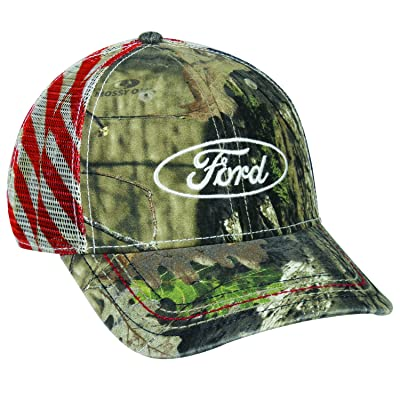 Mossy Oak 6 Panel Structured Mesh Back Snap Closure Ford Break Up Country Cap: Sports & Outdoors