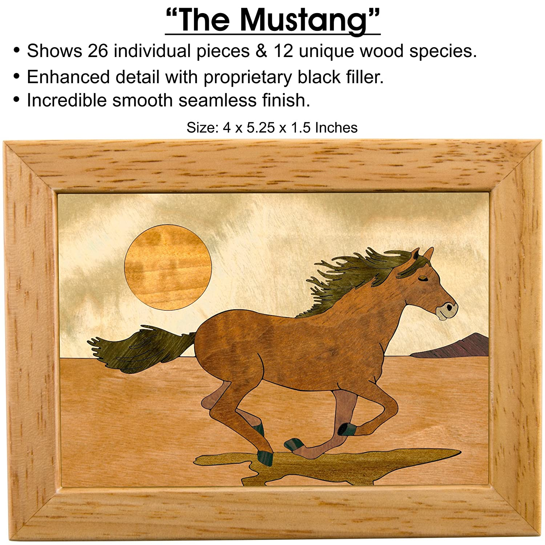 Amazon.com: Horse Wood Art Trinket Jewelry Box & Gift - Handmade USA ...