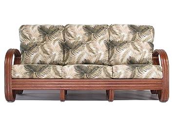 Amazon.com: Sofá de mimbre para sala de estar (#1790AW-MN ...