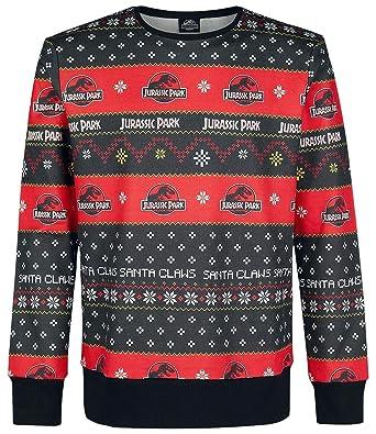 Jurassic Park Christmas Sweater Christmas Jumper Multicolour L