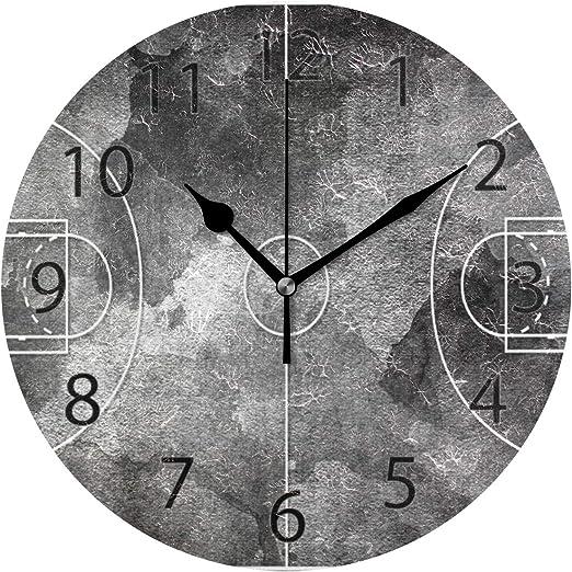 XiangHeFu Reloj de Pared, Redondo 10 Pulgadas de diámetro Campo de ...