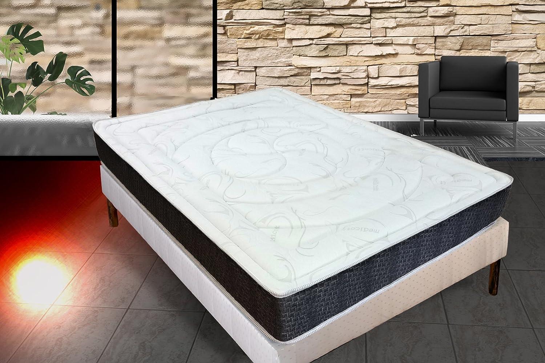 Medicott 140 x 190 con Memoria de Forma colchón 24 cm Grosor + 1,5 cm de Espuma con Memoria de Forma de 65 kg/m3 + Independencia de Dormir + Apoyo: Granja + ...