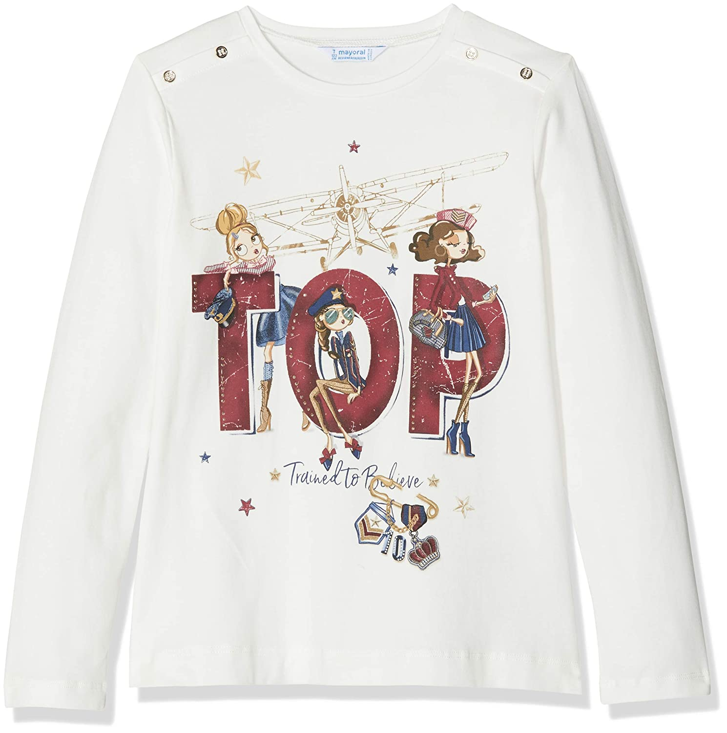 mayoral T-Shirt Manches Longues Fille
