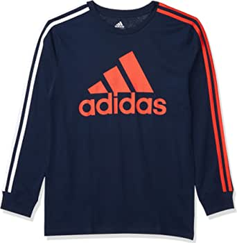 adidas Camiseta de manga larga de algodón para niño