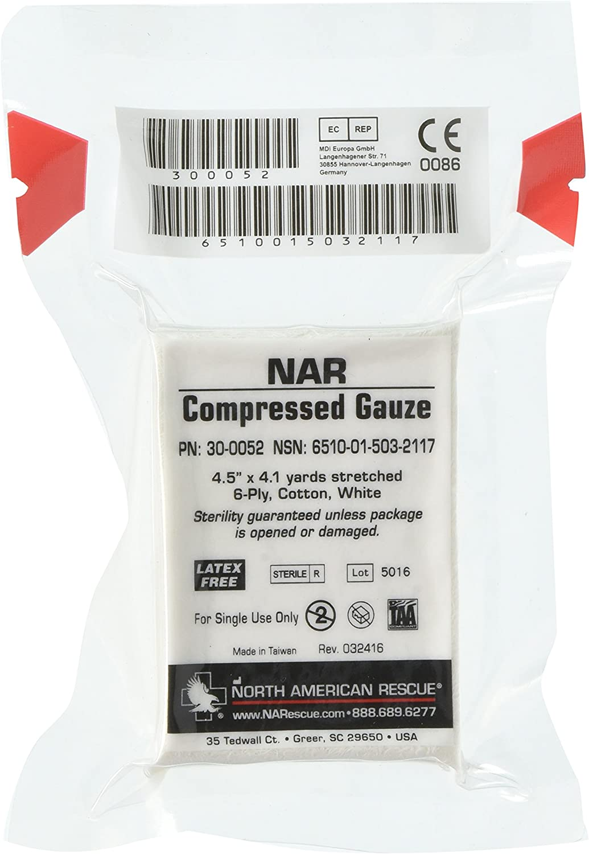 NAR Compressed Gauze, White