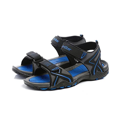 ef9545273adcc6 Unistar Gents Sports Sandals; FS_205-D.Grey-Black-R.Blue: Buy Online at Low  Prices in India - Amazon.in