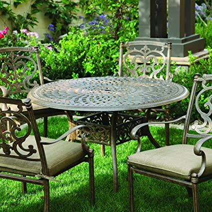 Amazon Com Darlee Santa Barbara 5 Piece Cast Aluminum Patio Dining