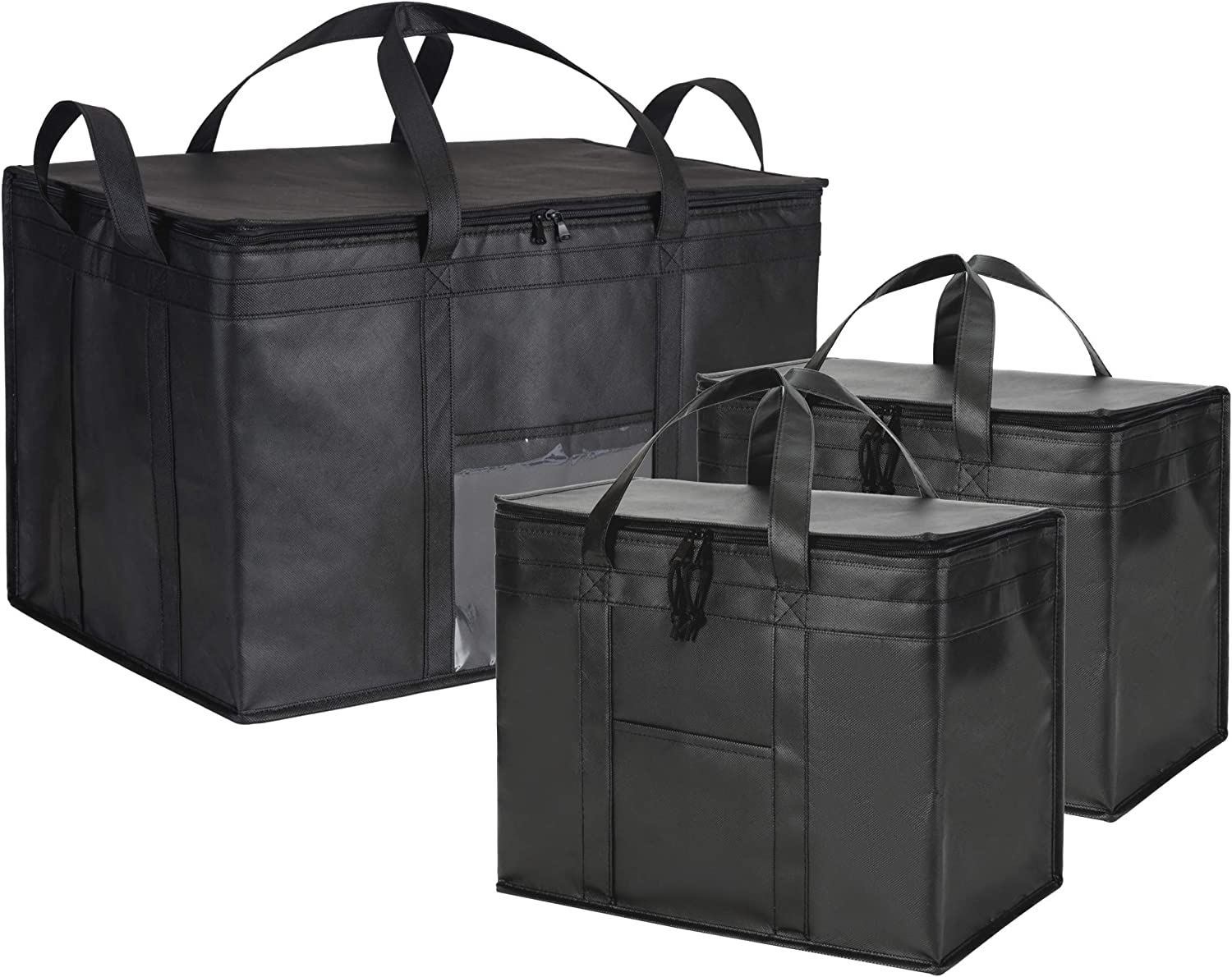NZ Home Ultimate Food Delivery Bags Bundle XL Insulated Bags 2 Pack + XXXL Insulated Bags 1 Pack
