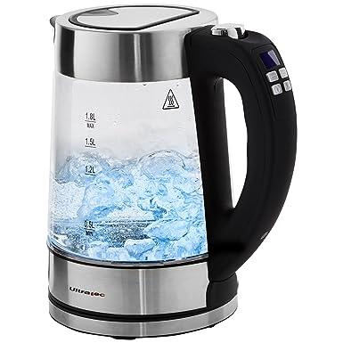 Ultratec Hervidor de agua LED BlueVita200 con ajuste de temperatura y asa de agarre suave;